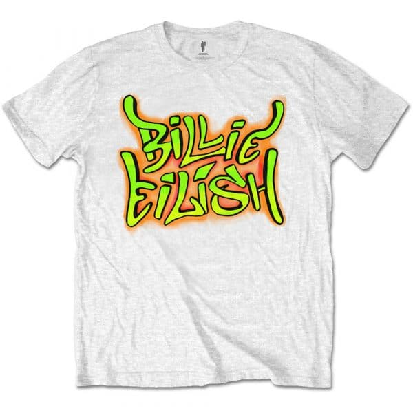 Billie Eilish Mens T-Shirt: Graffiti (XX-Large)