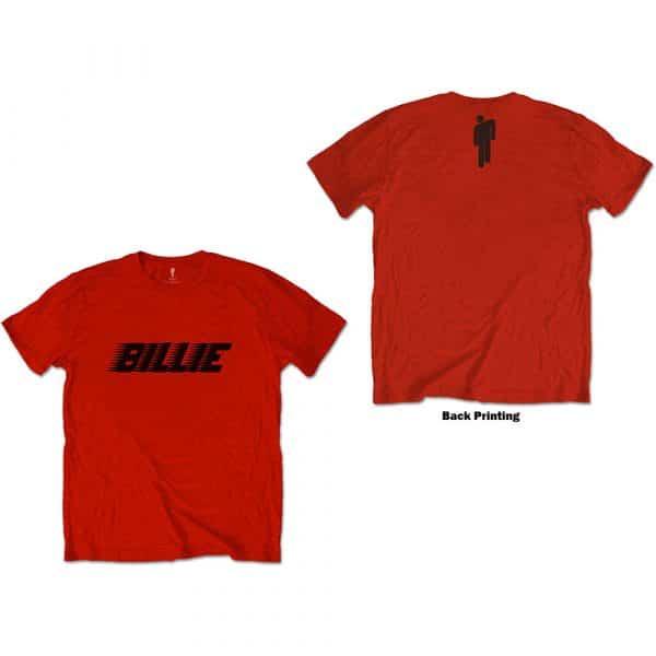 Billie Eilish Mens T-Shirt: Racer Logo & Blohsh (Back Print) (XX-Large)