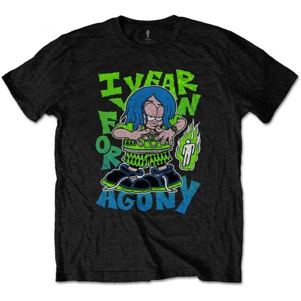 Billie Eilish Mens T-Shirt: Agony (XXX-Large)