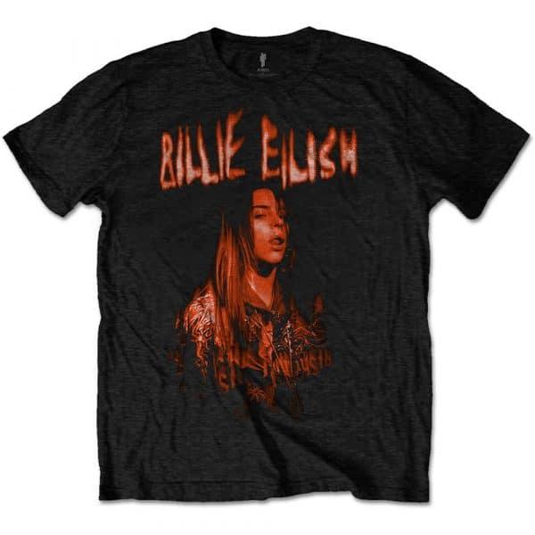 Billie Eilish Mens T-Shirt: Spooky Logo (XX-Large)