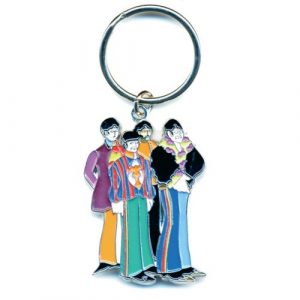 The Beatles Keyring: Yellow Submarine Band (Enamel In-fill)