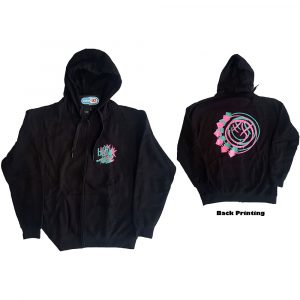 Blink-182 Mens Zipped Hoodie: Double Six Arrow Smiley (Back Print) (XXX-Large)