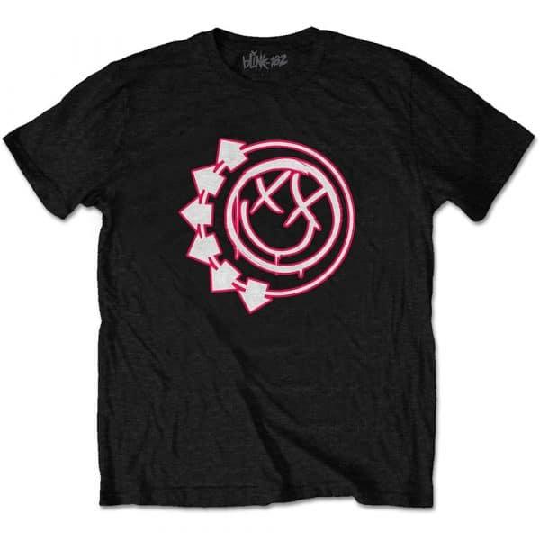 Blink-182 Mens T-Shirt: Six Arrow Smiley (XX-Large)