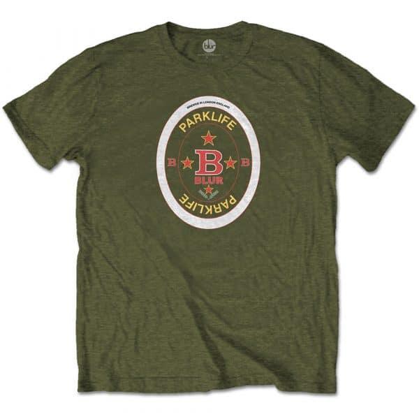 Blur Mens T-Shirt: Parklife Beermat (XX-Large)