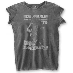 Bob Marley Ladies T-Shirt: Hawaii (Burn Out) (XX-Large)