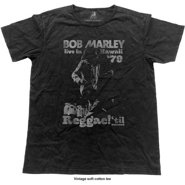 Bob Marley Mens Fashion T-Shirt: Hawaii Vintage (Vintage Finish) (XX-Large)