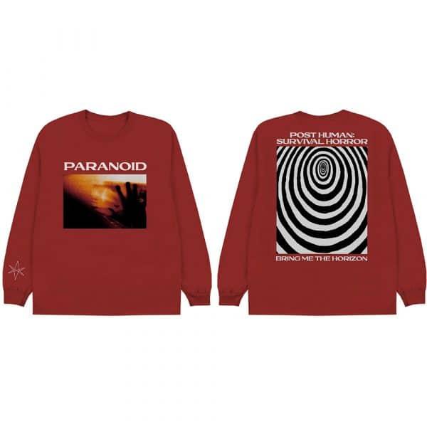 Bring Me The Horizon Mens Long Sleeved T-Shirt: Paranoid (Back Print) (XX-Large)