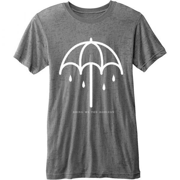 Bring Me The Horizon Mens Fashion T-Shirt: Umbrella (Burn Out)