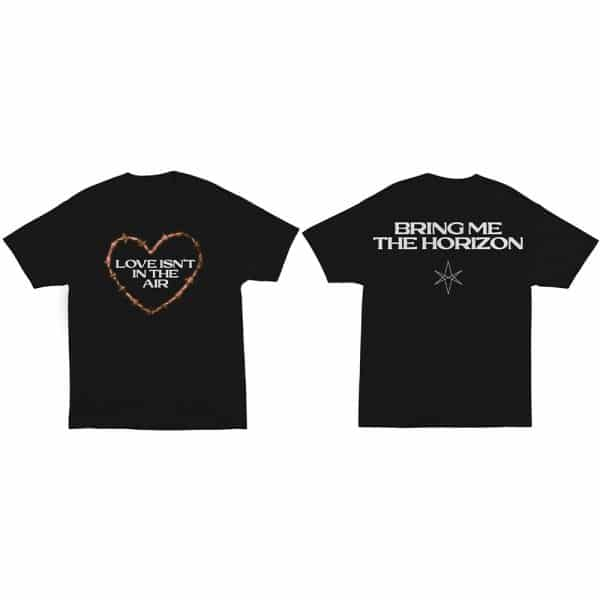 Bring Me The Horizon Mens T-Shirt: Love (Back Print) (XX-Large)