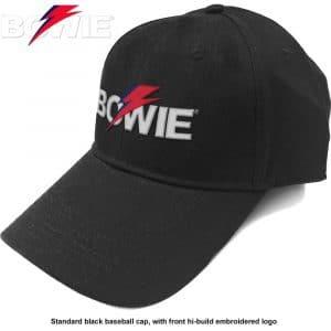 David Bowie Baseball Cap: Aladdin Sane Bolt Logo