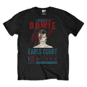 David Bowie Mens Eco-T-Shirt: Earls Court '73 (XX-Large)
