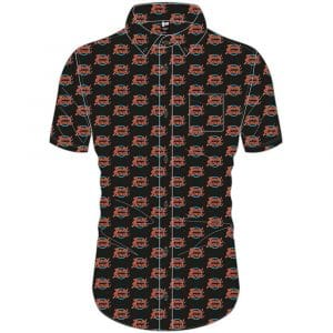 David Bowie Mens Casual Shirt: Logo Pattern (All Over Print) (XX-Large)