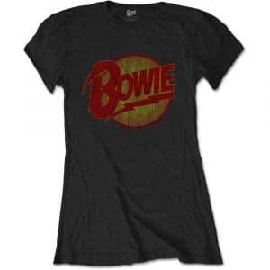 David Bowie Ladies Black T-Shirt: Diamond Dogs Vintage (XX-Large)