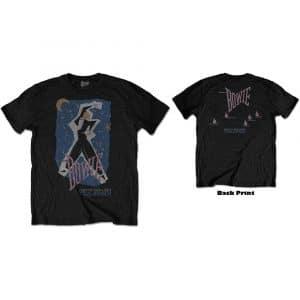David Bowie Mens T-Shirt: 83' Tour (Back Print) (XX-Large)