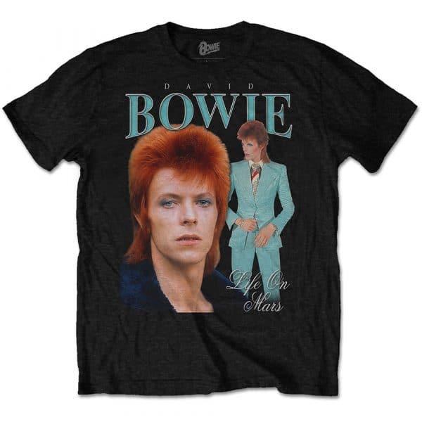 David Bowie Mens T-Shirt: Life on Mars Homage (XX-Large)
