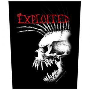 The Exploited Back Patch: Bastard Skull