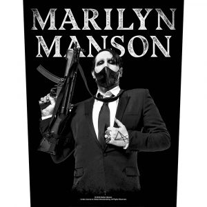 Marilyn Manson Back Patch: Machine Gun
