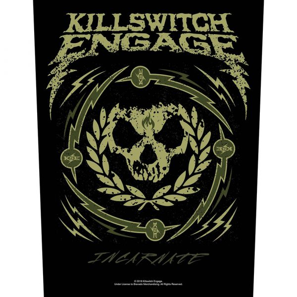 Killswitch Engage Back Patch: Skull Wreath