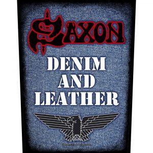 Saxon Back Patch: Denim & Leather