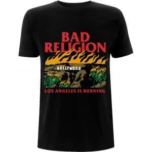 Bad Religion Mens T-Shirt: Burning Black (XX-Large)