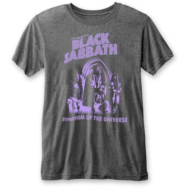 Black Sabbath Mens T-Shirt: Symptom of the Universe (Burn Out) (XX-Large)