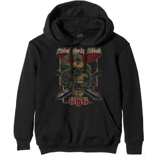 Black Sabbath Mens Pullover Hoodie: Bloody Sabbath 666 (XX-Large)