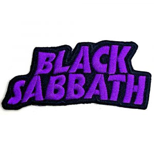 Black Sabbath Standard Patch: Cut-Out Wavy Logo