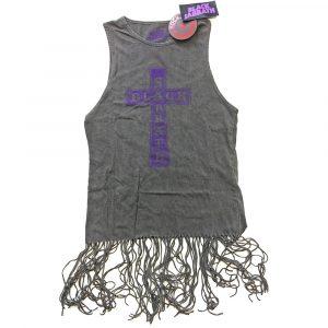 Black Sabbath Ladies T-Shirt Dress: Vintage Cross (Tassels) (XX-Large)