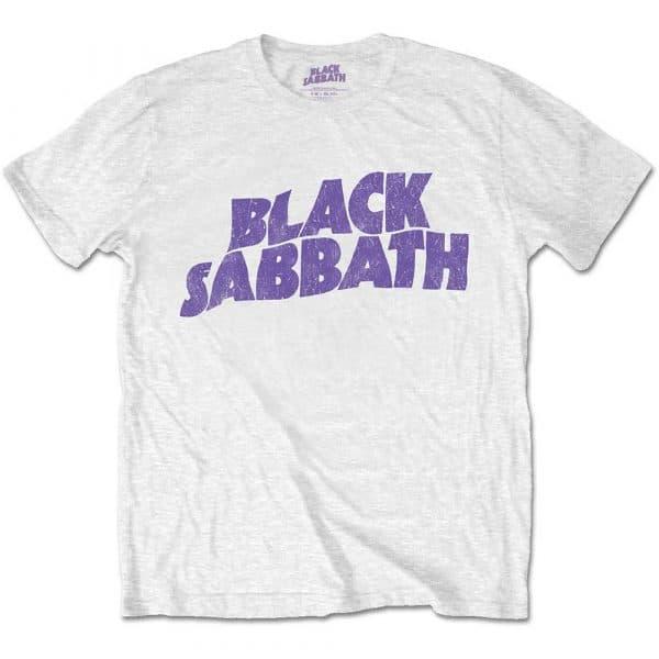 Black Sabbath Mens T-Shirt: Wavy Logo Vintage (Retail Pack) (XX-Large)