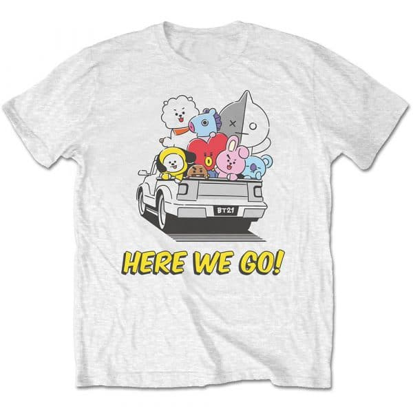 BT21 Mens T-Shirt: Here We Go (XX-Large)