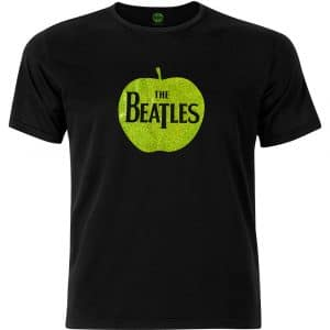 The Beatles Mens Fashion T-Shirt: Apple with Sparkle Gel Application (XX-Large)