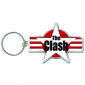 The Clash Keyring: Stars & Stripes (Enamel In-fill)