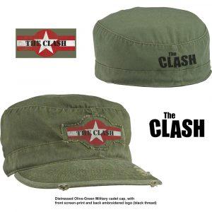The Clash Unisex Military Cap: Star Logo (Distressed)