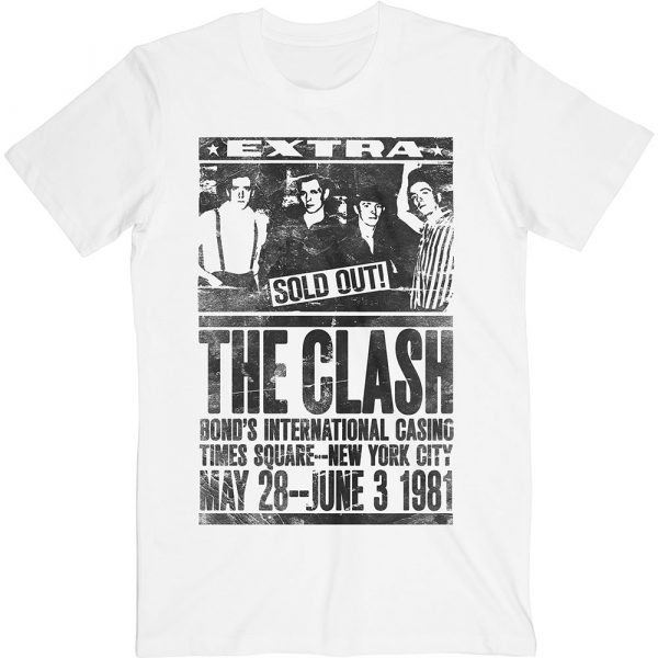 The Clash Mens T-Shirt: Bond's 1981 (XX-Large)