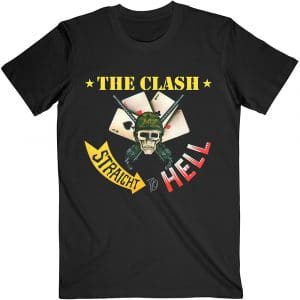 The Clash Mens T-Shirt: Straight To Hell Single (XX-Large)