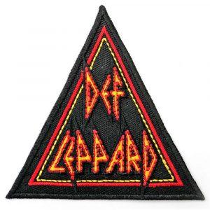 Def Leppard Standard Patch: Tri-Logo