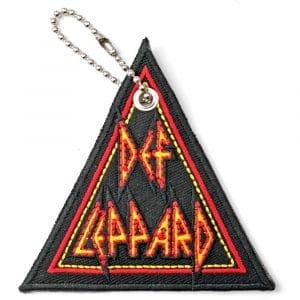 Def Leppard Keyring: Tri-Logo (Double Sided Patch)