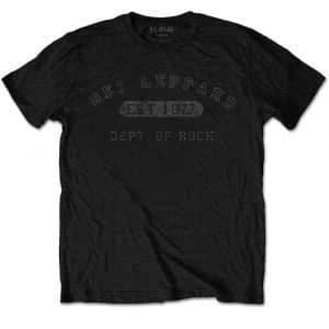 Def Leppard Mens T-Shirt: Collegiate Logo (XX-Large)