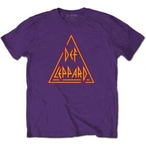 Def Leppard Mens T-Shirt: Classic Triangle Logo (XX-Large)