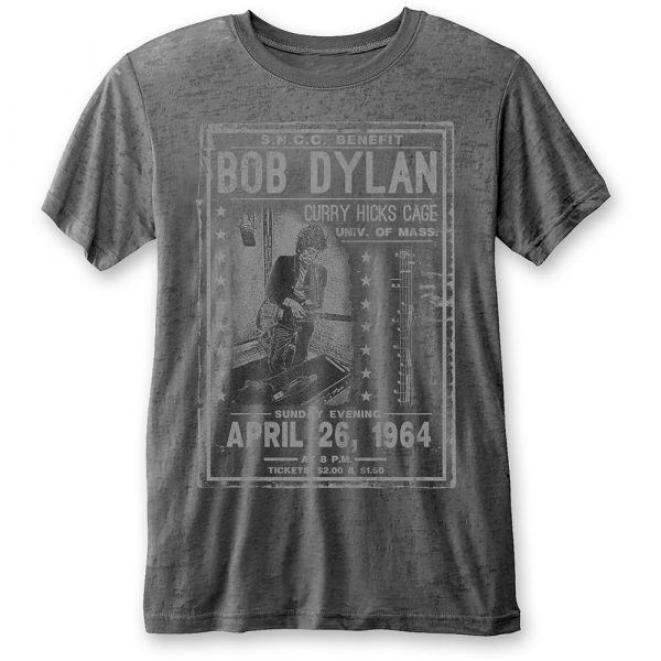 Bob Dylan Mens T-Shirt: Curry Hicks Cage (Burn Out) (XX-Large)