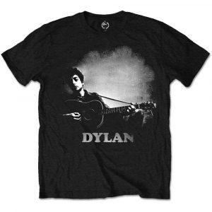 Bob Dylan Mens T-Shirt: Guitar & Logo (XX-Large)