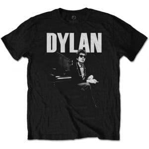 Bob Dylan Mens T-Shirt: At Piano (XX-Large)