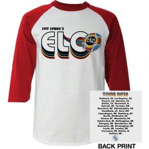 ELO Mens Raglan T-Shirt: 2018 Tour Logo (Ex. Tour/Back Print) (XX-Large)