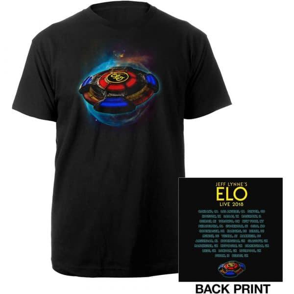 ELO Mens T-Shirt: 2018 Tour Logo (Ex. Tour/Back Print) (X-Large)