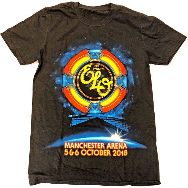 ELO Mens T-Shirt: Manchester Event (Ex. Tour) (XX-Large)