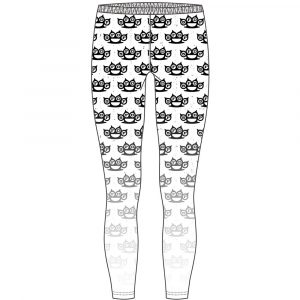 Five Finger Death Punch Ladies Fashion Leggings: Knuckleduster (Large to X-Large)