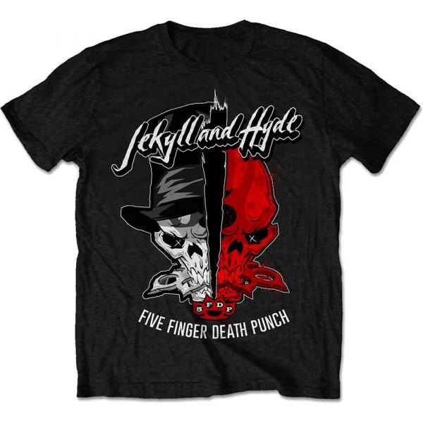 Five Finger Death Punch Mens T-Shirt: Jekyll & Hyde (XX-Large)