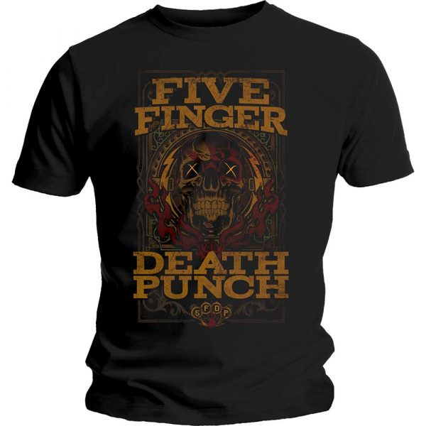 Five Finger Death Punch Mens T-Shirt: Wanted (XX-Large)