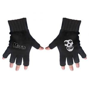 Misfits Unisex Fingerless Gloves: Logo & Fiend