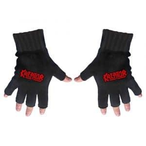 Kreator Unisex Fingerless Gloves: Logo